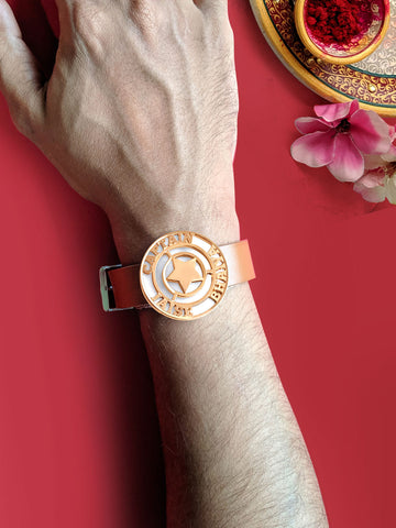 Rose Gold Captain Bhaiya Magnet Rakhi