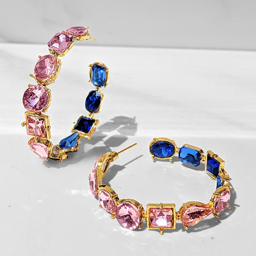 Fior Inside-out Crystal Hoop Earrings