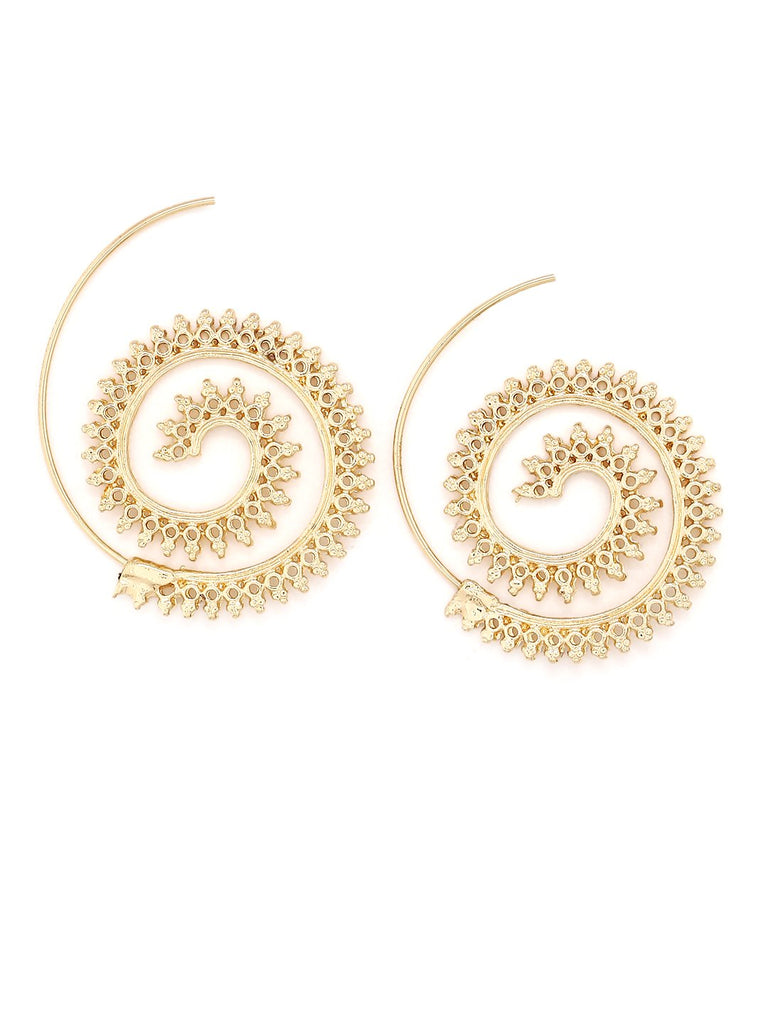 Tomtosh Spiral Gold Earring