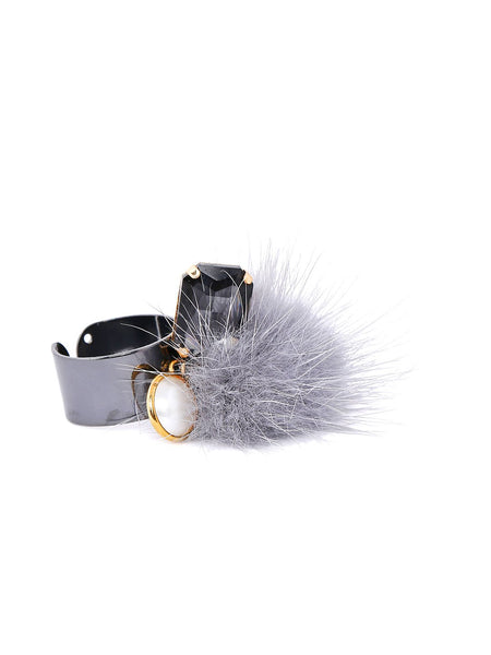 Mink Fur Ring