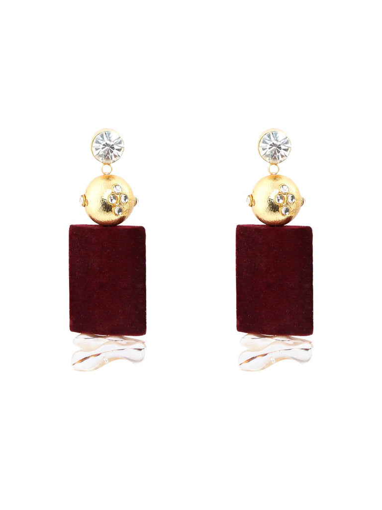 Depth Of Earth Earrings (Maroon)