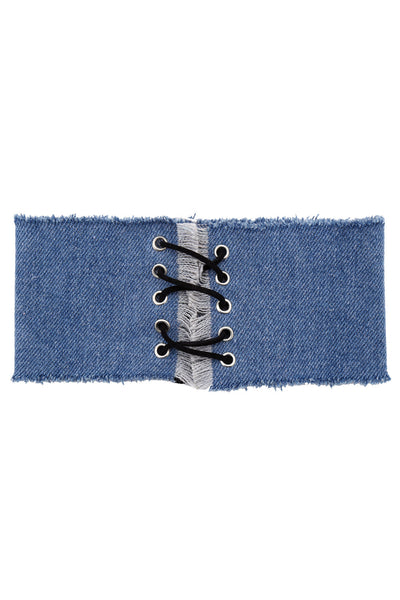Denim Love Choker