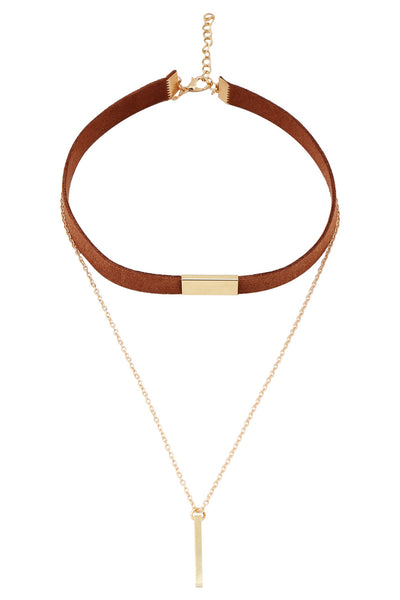 Linked Brown Necklace