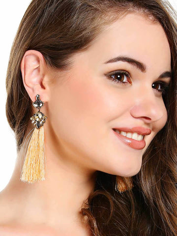 Seriyah Stud Tassel Earrings