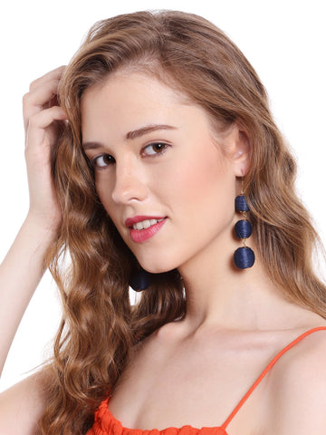 Crispin Drop Earrings (Dark Blue)