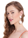 Snowy Pom Pom Earrings