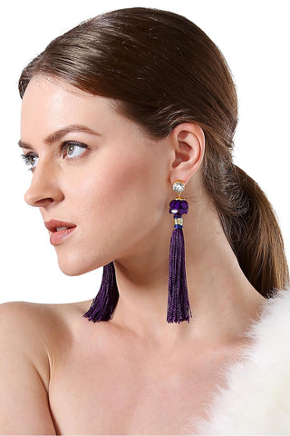Deep Purple Earrings