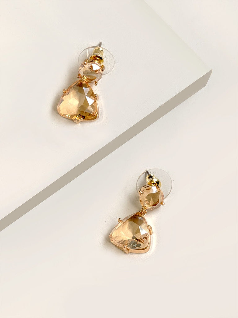 Clear Double Drop Earrings