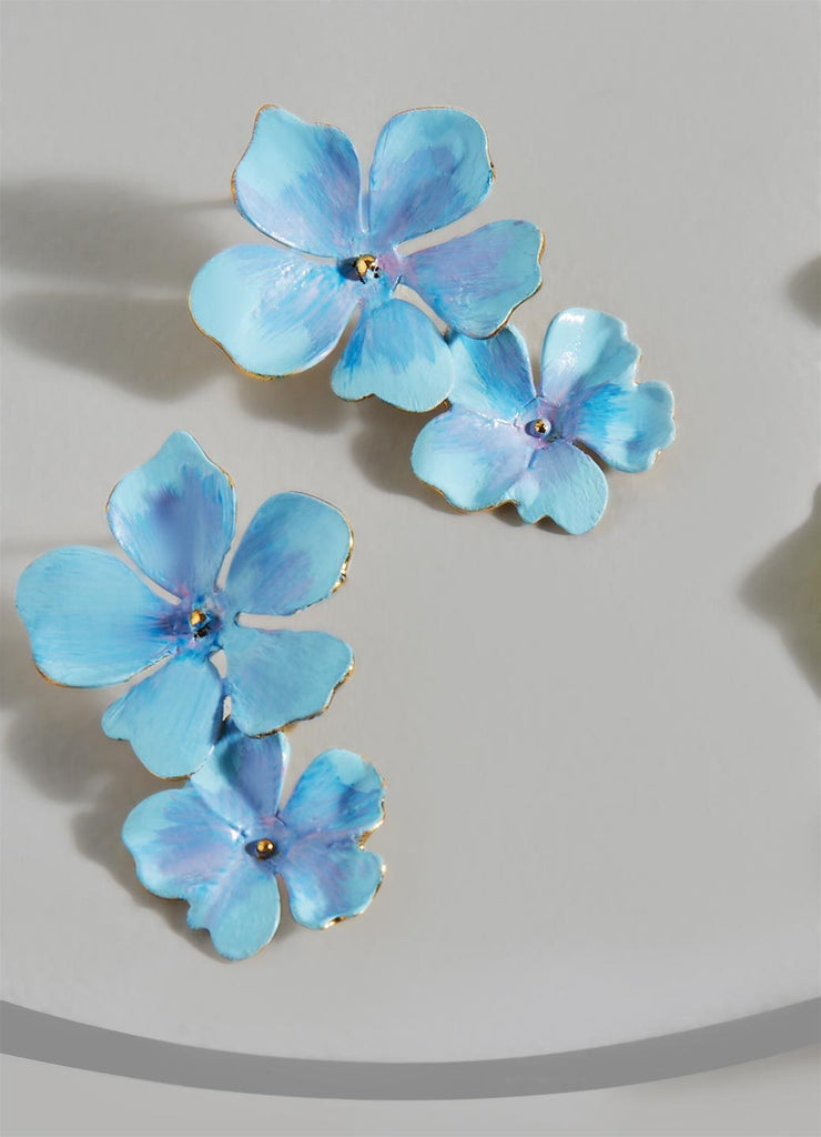 Beack Floral Earrings