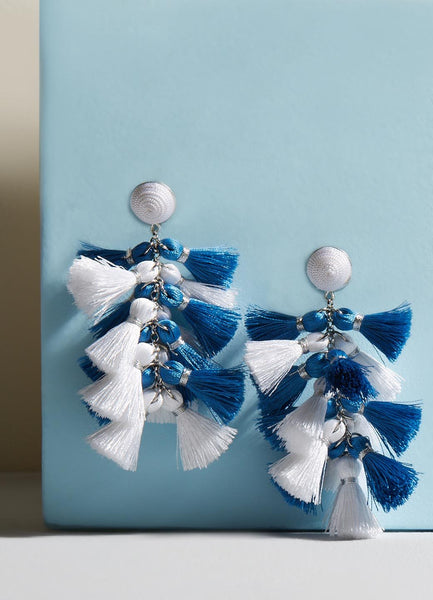 Daisy Dual Tassel Earrings