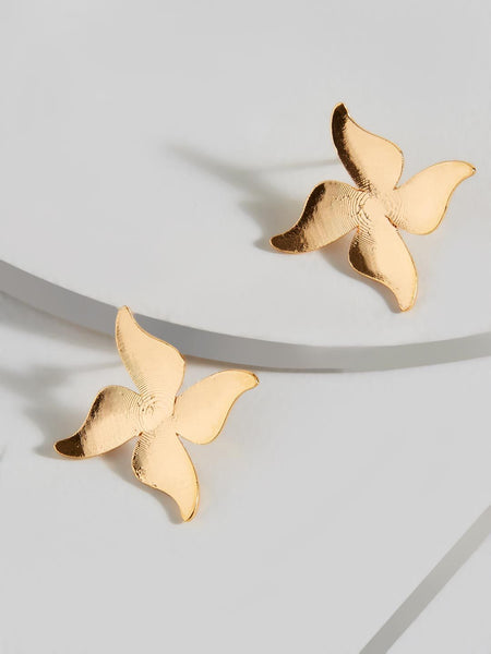 Cresenda Flower Stud Earrings