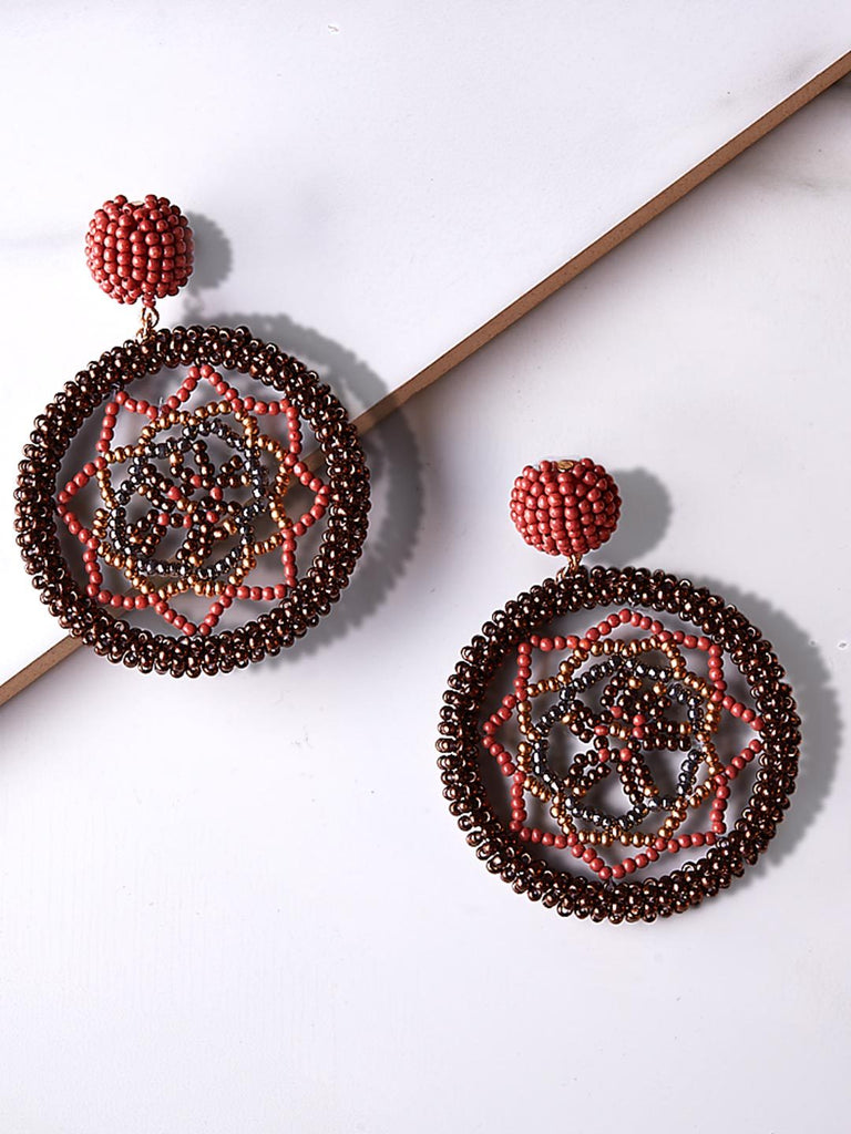 Mehr Embroidered Drop Earrings