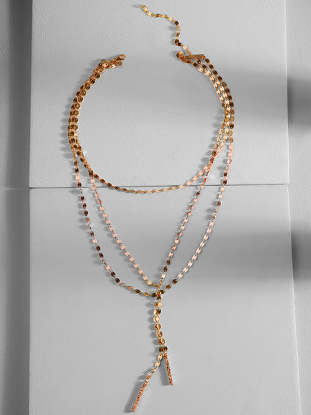 Keira Y-Chain Layered Necklace