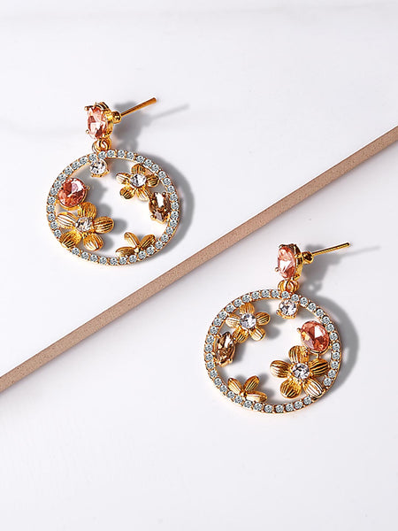 Ambre Crystal Hoop earrings