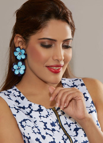 Cali Drop Earrings (Blue)