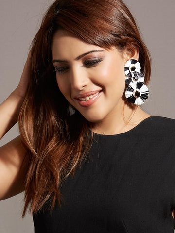 Sunflare Black Drop Earrings