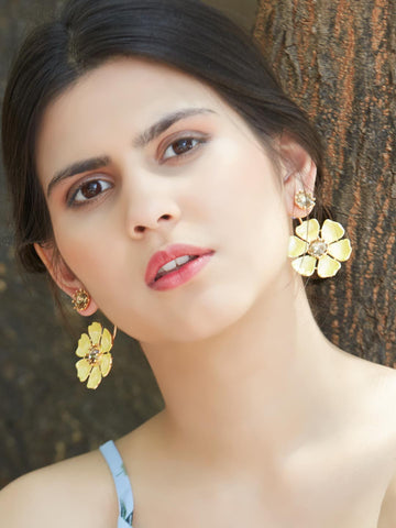 Lucille Front-Back Earrings (Yellow)