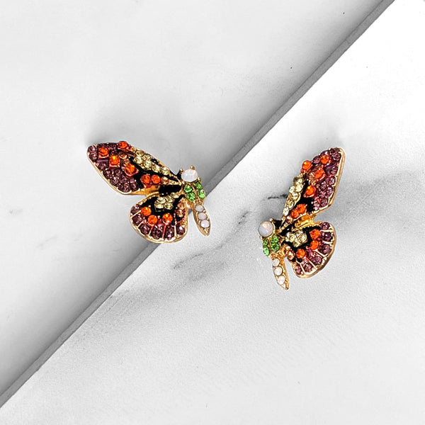 Flutter Wings Earrings (red)