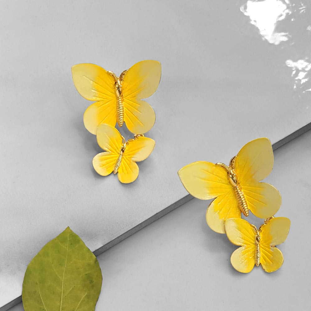 Winged Beauty Earrings (yellow)