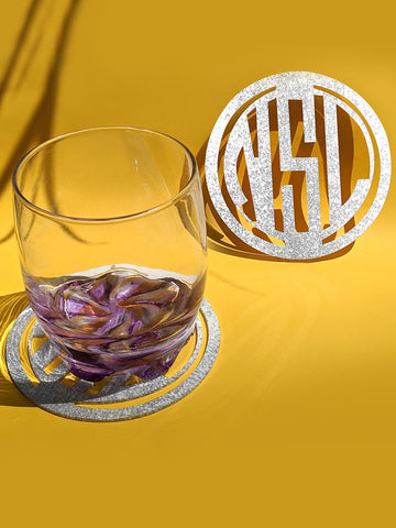 Big Monogram Coasters (set of 4)