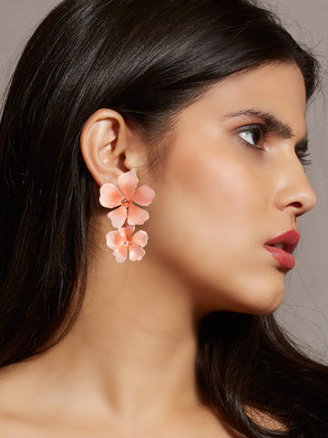 Beack floral earrings (Blush)