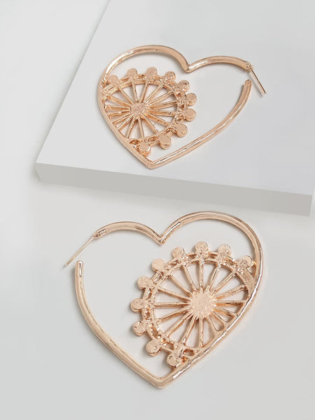 Dainty London Eye Heart Hoop Earring