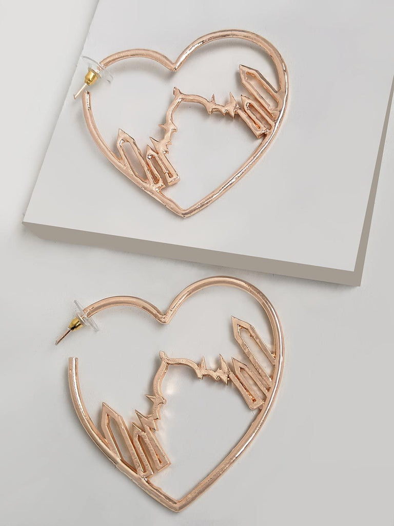 Royal Taj Mahal Heart Hoop Earring