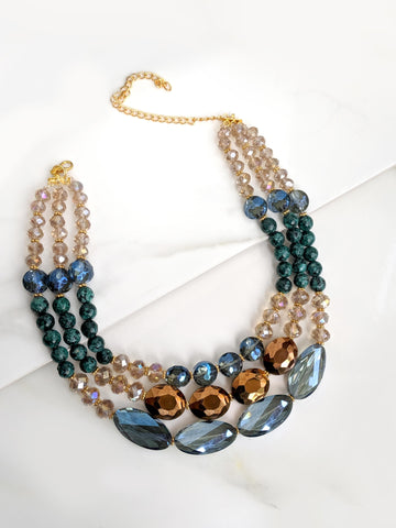 Chunky Blue Stone necklace