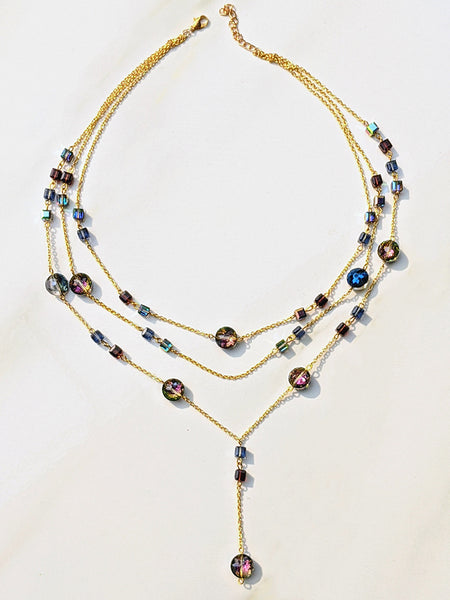 Layered Swarovski Crystal Necklace