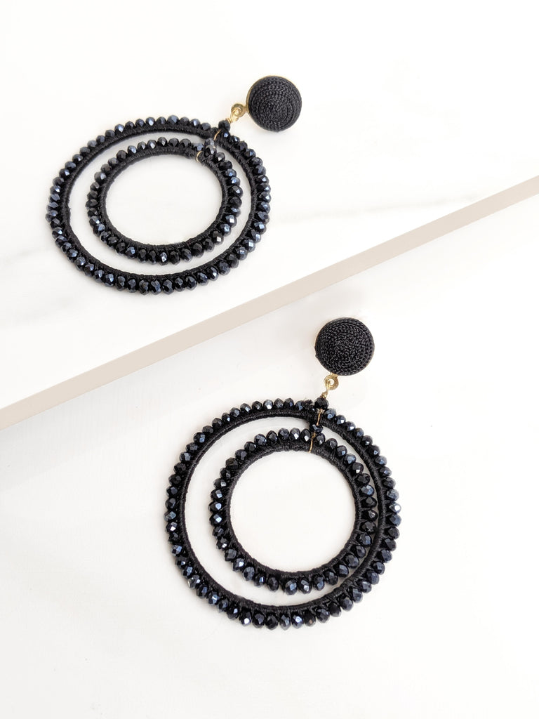 Black Starlight Earrings