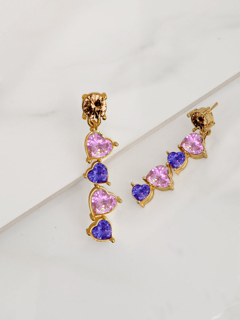Romantic Heart  Layered Earring