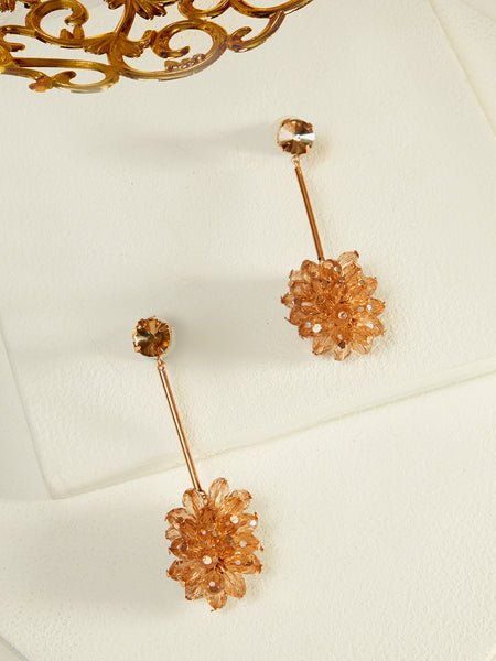 Azalea Crystal Earrings (Gold)