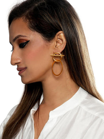 Circlet interlocking earrings