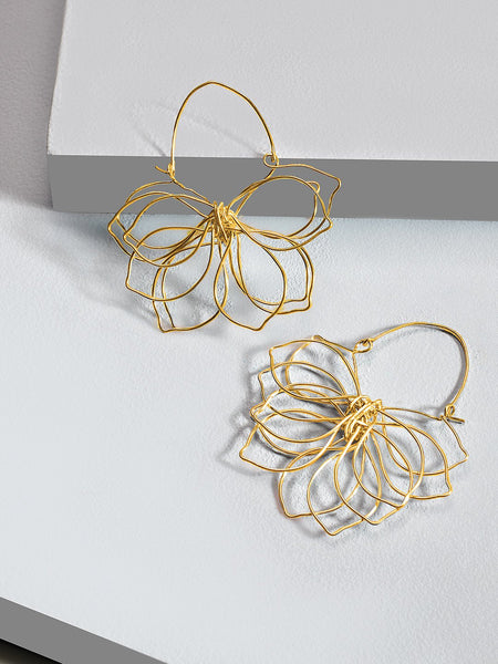 Floral pop-up earrings