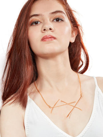 Estella collared necklace (Gold)