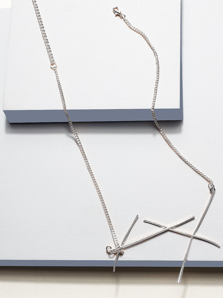 Estella collared necklace (silver)