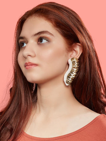 Allison drop earrings (White)