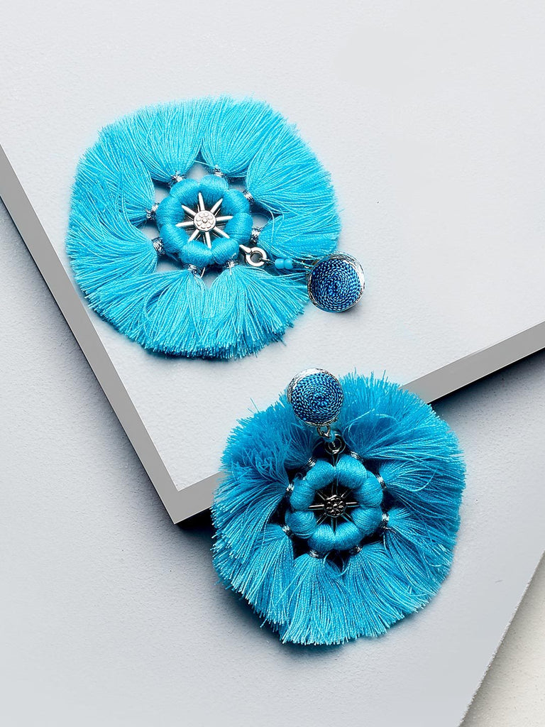 Barbara drop earings (Blue)