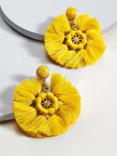 Barbara drop earings (Yellow)