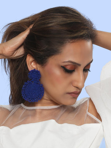 Marise flower earrings (blue)