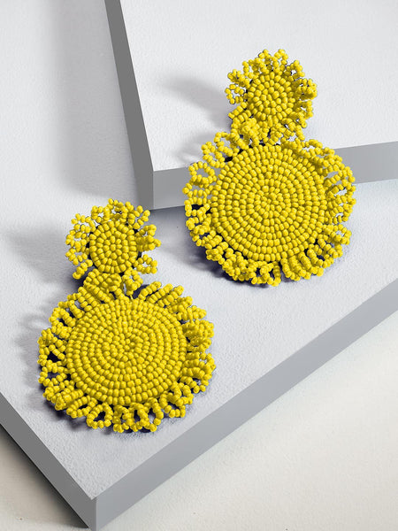 Marise flower earrings (Yellow)