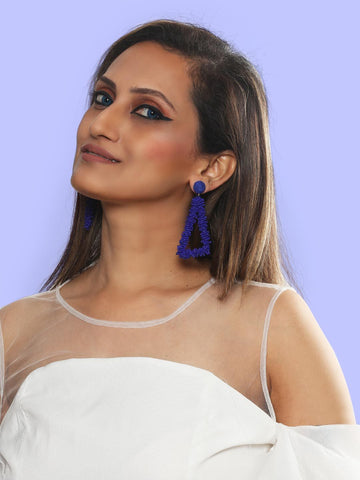 Helen drop earrings (Blue)