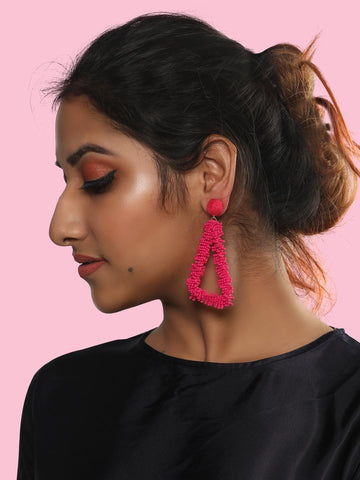 Helen drop earrings (Pink)