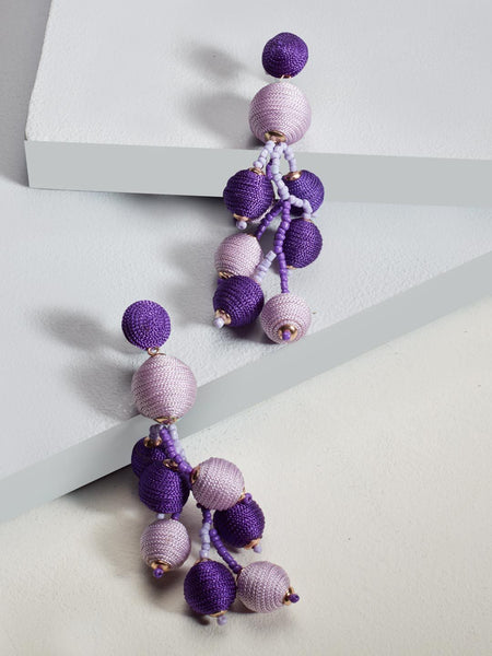 Hannah drop earrings (Purple)