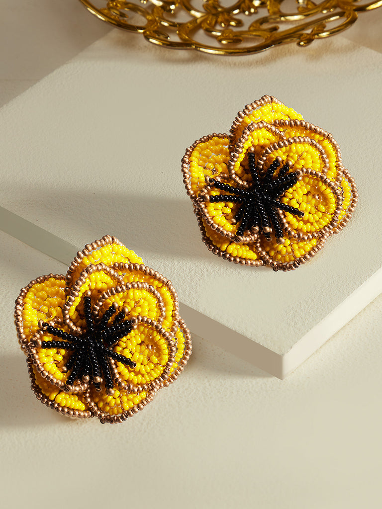 Amor blooming studs (Yellow)