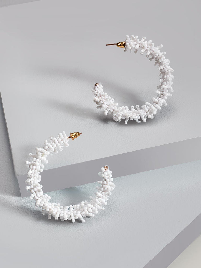 Clara hoop earrings (White)