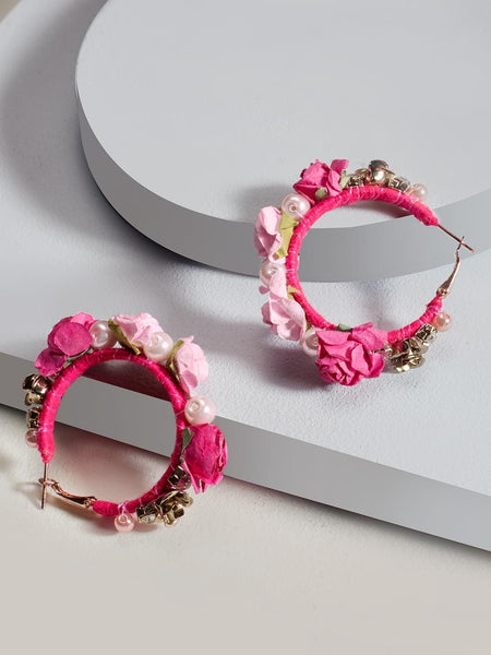 Floret hoop earrings