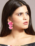 Beack floral earrings (Bubblegum)