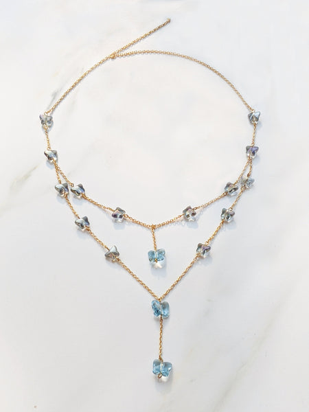 Fluttery Blue Necklace