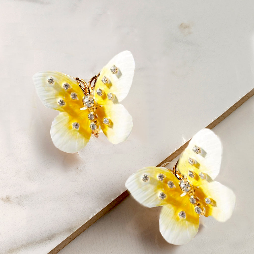 Butterfly Blonde Earrings